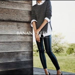 Banana Republic Sloan vegan leather/spandex pants